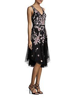 Aidan Mattox - Beaded Floral Dress