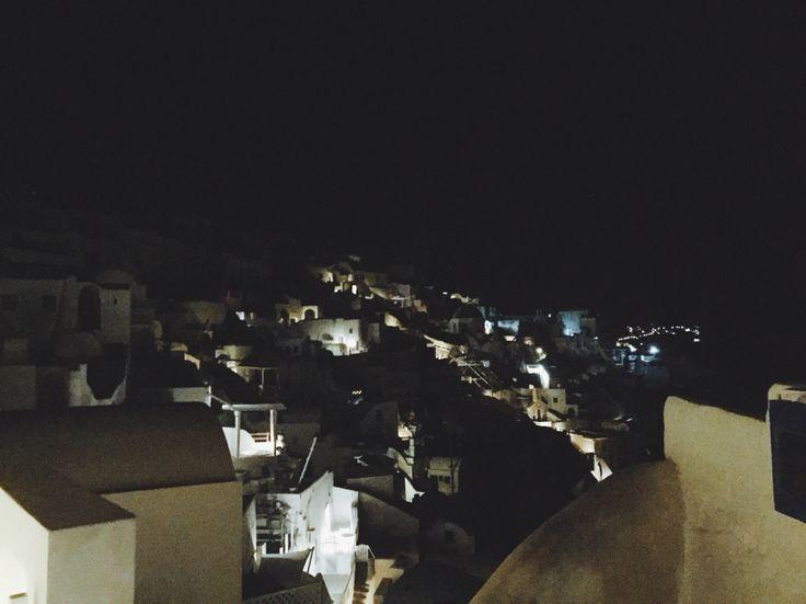 Nighttime magic in Santorini