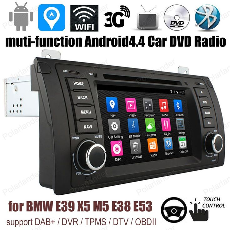 Android4.4 7 inch Car DVD Support DTV TPMS DAB + OBDII GPS BT 3G WiFi For B/MW/E39/X5/M5/E38/E53 FM AM Quad Core radio