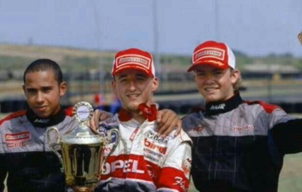 1. Kubica 2. Hamilton 3. Rosberg