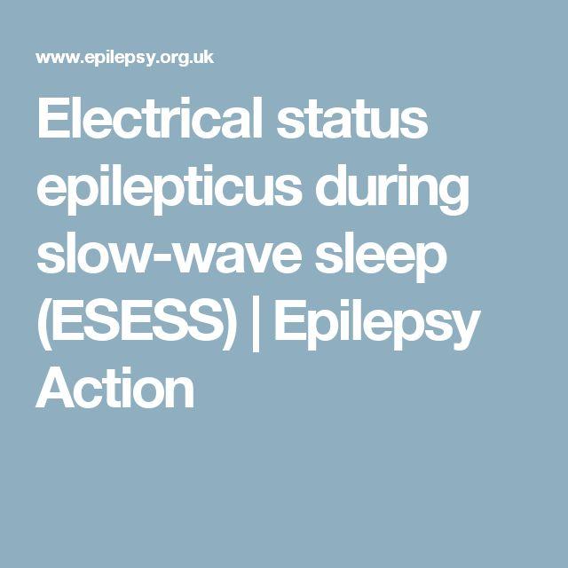 Electrical status epilepticus during slow-wave sleep (ESESS) | Epilepsy Action
