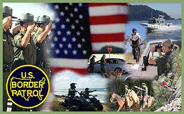 Image of Border Patrol agents performing various duties   Proud of my agent!!!!