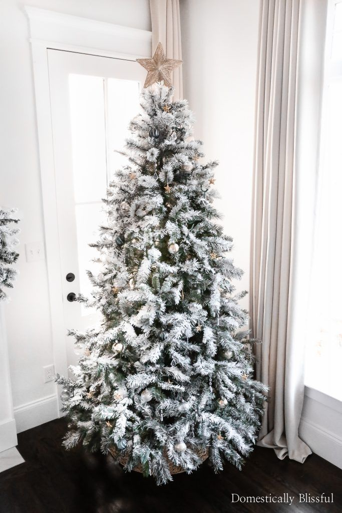 How To Flock An Artificial Christmas Tree In 2020 Fake Christmas Trees Cheap Christmas Trees Christmas Decorations Cheap