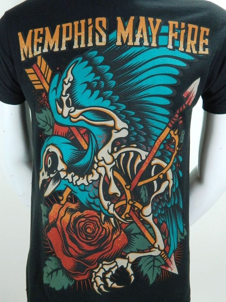 Memphis May Fire Dallas Texas Heavy Metalcore Band Black Cotton Mens T Shirt M  #Tultex #GraphicTee