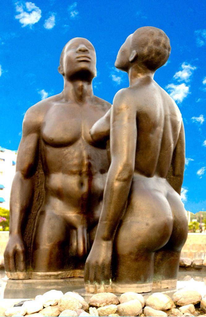 Statues at Emancipation Park Kingston jamaica