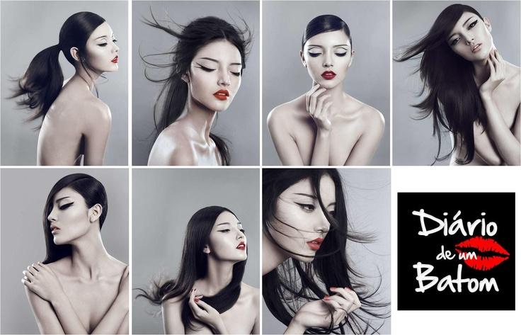 OMG adoro, estas fotos estão muito boas e a make up nem se fala. Diferentes tipos de eyeliner com diferentes penteados e cores de batom. Optimas ideias para quem gosta deste estilo, apenas precisa de moderar na quantidade e no tamanho