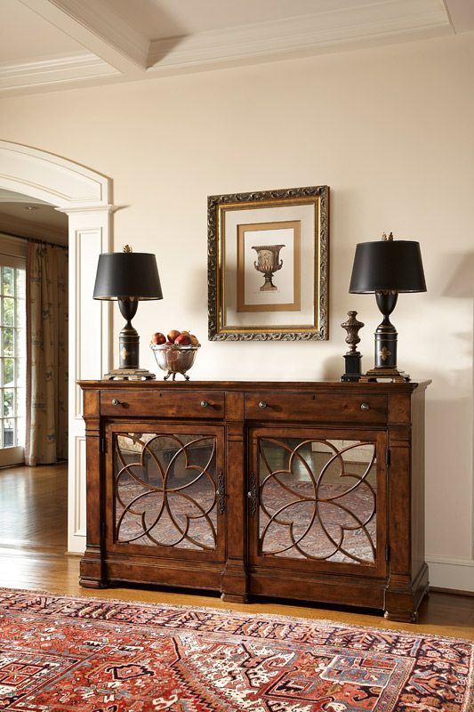 Perfect for your fine china, serving dishes, and more, this stunning Double Credenza will add charm and elegance to your entryway or dining room. Shop Biltmore products for your home this season.