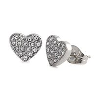 Silver Crystal Heart Stud Earrings A little pop of glitz goes a long way! Wear these little beauties with the Silver Crystal Heart Droplet for a look that sparkles and shines.