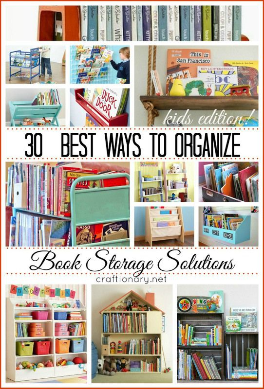 30 best book storage solutions for kids and families | organize picture books and board books | DIY bookcase ideas | Inspiration for children's bedrooms and reading nooks