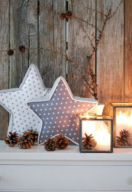 mamas kram: lovely hand made star-pillows from Doris! Leuk duits blog