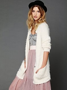 Free People Keep It Fuzzy Cardigan