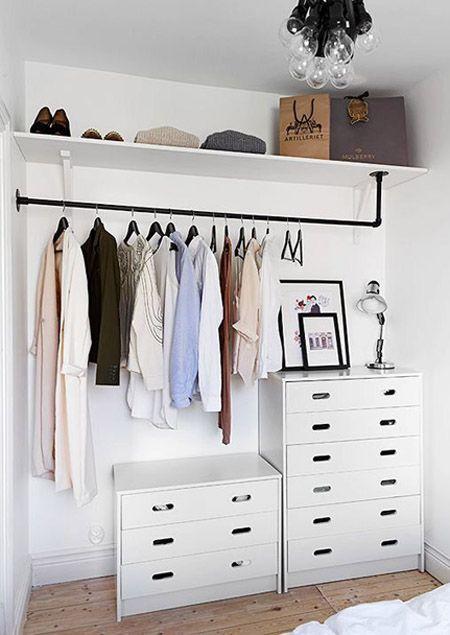 almacenando la ropa