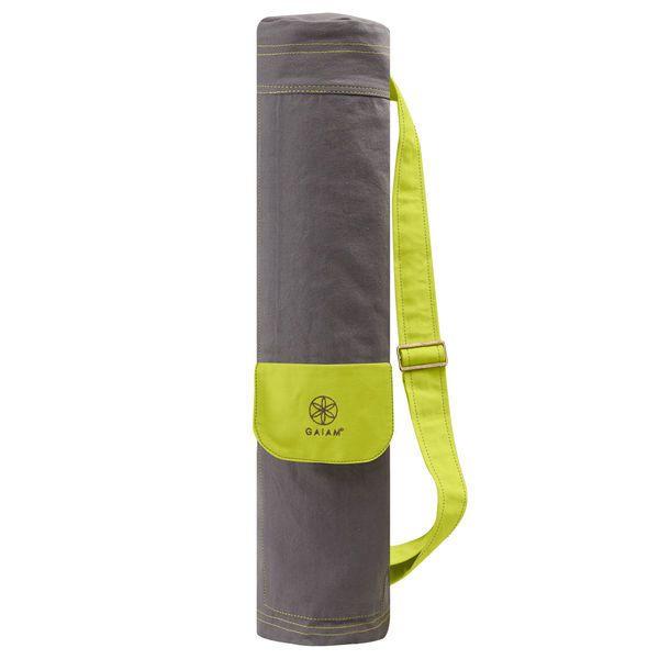 Gaiam Citron Storm Cargo Bag  Description: Met deze Citron storm Cargo bag kunt u in stijl uw yogamat en andere yoga benodigdheden eenvoudig meenemen. De volledige ritssluiting zorgt ervoor dat u uw tas eenvoudig in en uit kunt pakken. Citron Storm Cargo Mat Bag Kenmerken:volledige ritssluitingBuitenkant met ritsextra vakje voor bijv telefoonVerstelbare schouderriem  Price: 24.95  Meer informatie