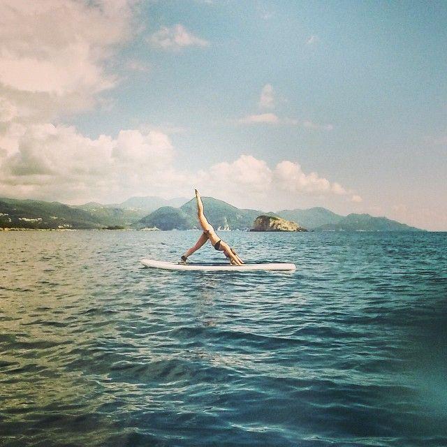 Paddleboard Yoga in Sivota, Greece.
