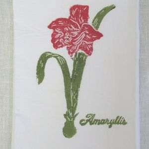 Oyster Shell Tree (Caribbean/Aqua) on White Flour Sack Towel