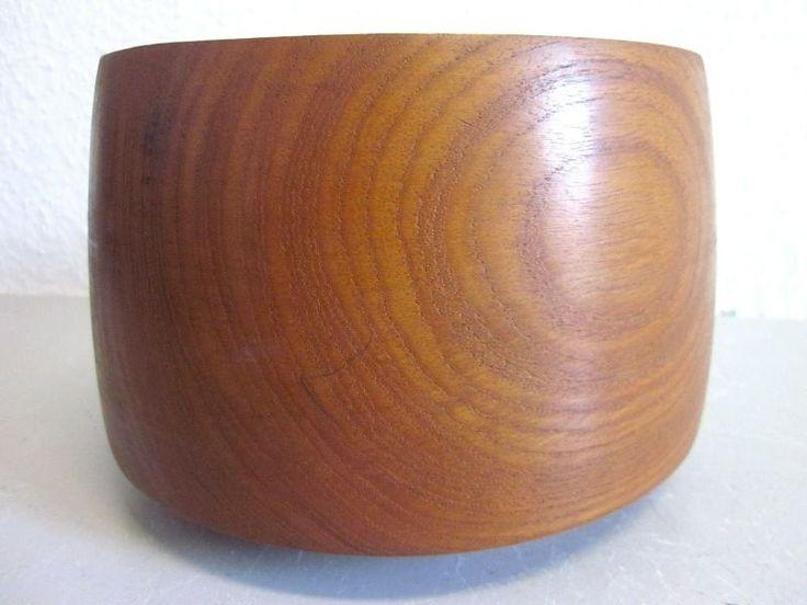 Danish modernist TEAK bowl BROSTE Denmark - 50s 60s mid-century - HUGE!!