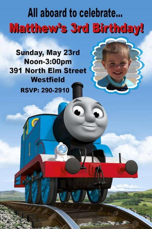 86 best ThomasTrain invitations images – Thomas the Tank Engine Birthday Invitations