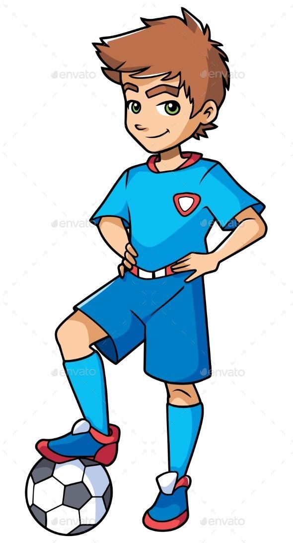 Football Boy Standing Football Boys Football Drawing Football Illustration
