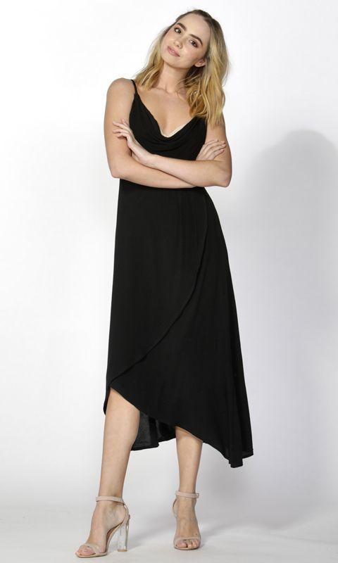 Sass - Salena Cowl Cross Over Dress B