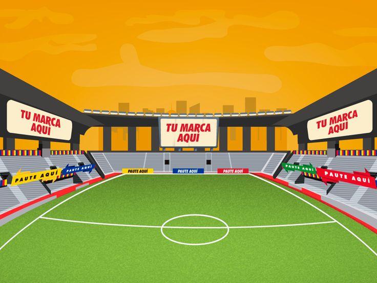 Estadio de fútbol ilustración para juego 2D