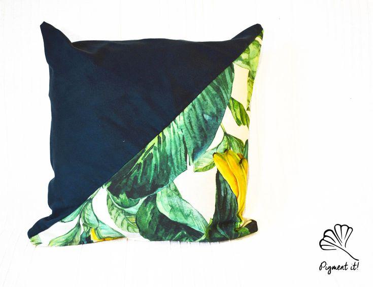 Housse, Coussin - Bananier - Banana - leaf - de la boutique Pigment it! sur Etsy