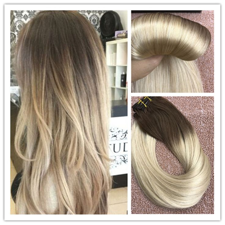 110 best clip in hair extensions images on pinterest blondes 6a balayage brown to blonde remy ombre clip in human hair extensions full head pmusecretfo Images