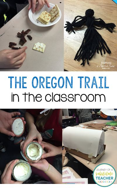 Teaching About The Oregon Trail - Journey of a Substitute Teacher