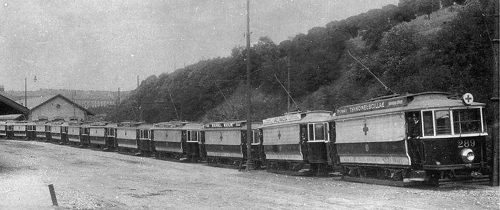 Netradiční kolejová vozidla za první světové války