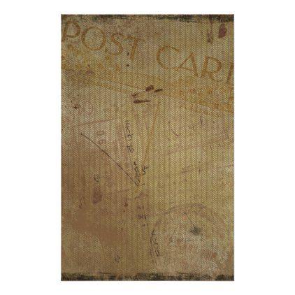Vintage Postcard Background Journal Scrapbooking Stationery - antique gifts stylish cool diy custom