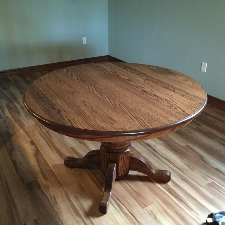 35 Best Images About Refinished Oak Tables On Pinterest: Refinished Round, Solid Oak Table For Client. Alex Did The