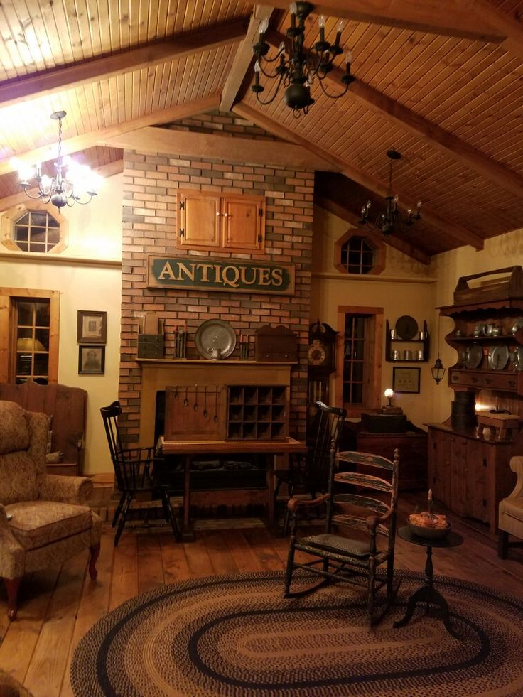766 Best Images About Primitive Colonial Rooms On