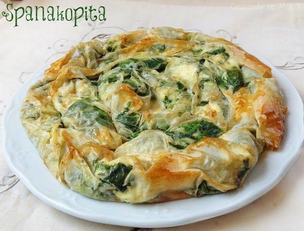 #Spanakopita {pastel griego de #espinacas y queso feta}