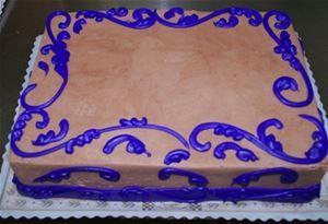 Scrollwork Sheet Cake 2 Bäckerei mit drei Brüdern   – cake and cookies