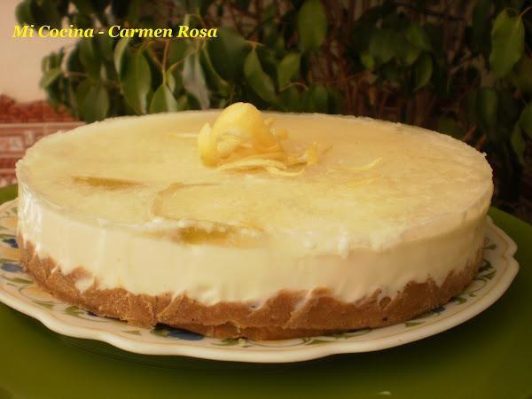 Tarta helada de yogurt y limón                                                                                                                                                                                 Más