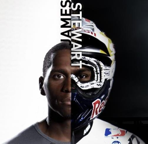 James Stewart, the very first african-american motocross rider to compete as a nationally ranked rider. He is 2nd on the all time wins list and worth $18 million dollars.
