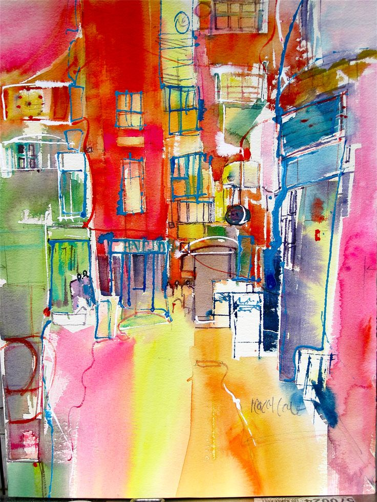 London Covent `Garden . medium .. Water colour