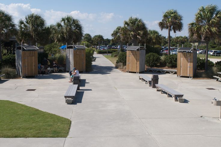 Restrooms, outdoor showers, and dressing areas make Isle of Palms County Park, South Carolina, a convenient getaway for beachgoers.