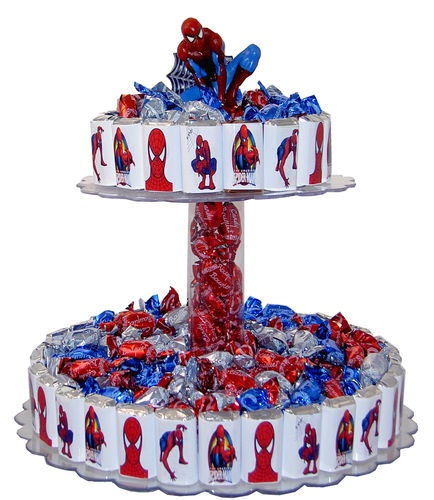 Candy Bar Cake-Spiderman Theme-Perfect for any Birthday Party Celebration