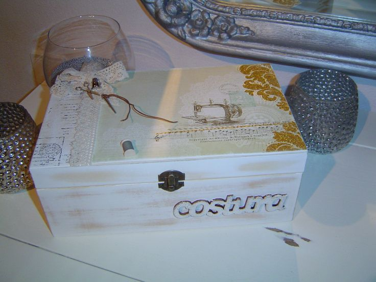 scrap decor sewing box