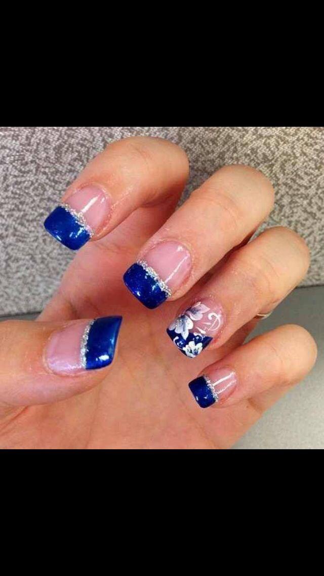 Royal Blue Nails Blue Nail Designs French Nail Designs Nail Designs