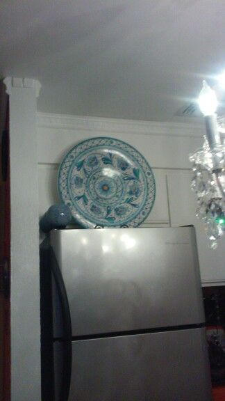 It is a big designer plate, It is from Italy