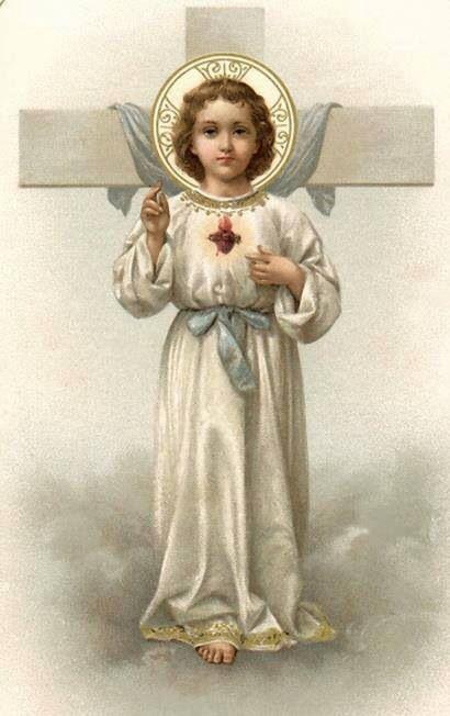 El niño Jesús y la Cruz