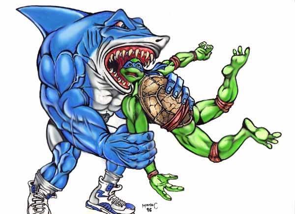 Street Sharks Vs Ninja Turtles