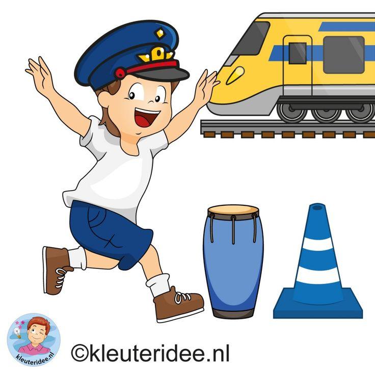 Gymles voor kleuters, thema 'de trein', kleuteridee.nl