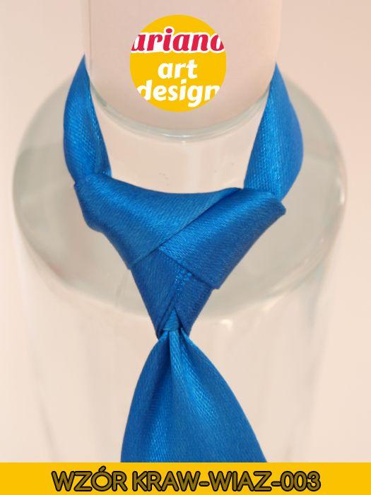 Krawat na butelkę wiązany, wódkę 5 szt zawieszki weselne PL - wzór węzła 003