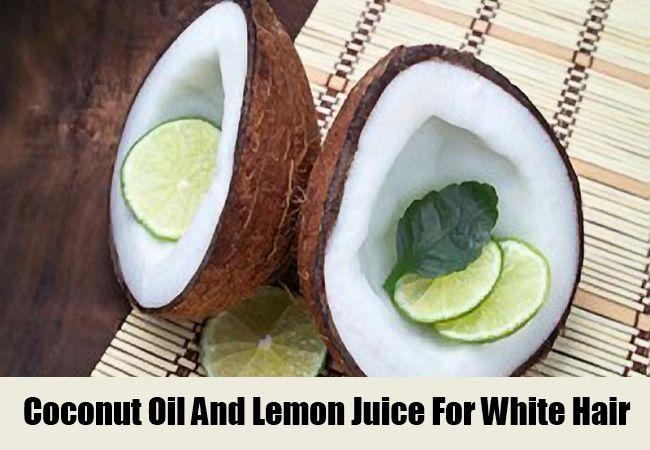 Kokosový olej a citronová šťáva pro bílé vlasy
