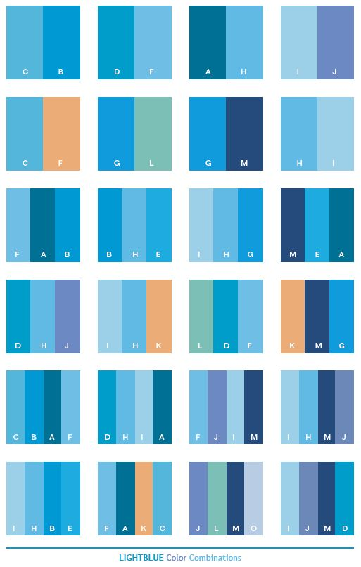Color Schemes | Light blue color schemes, color combinations, color palettes for print ...
