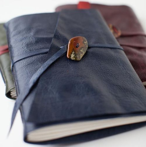 DIY Leather Journals...nice to have the type of paper you want in a journal.