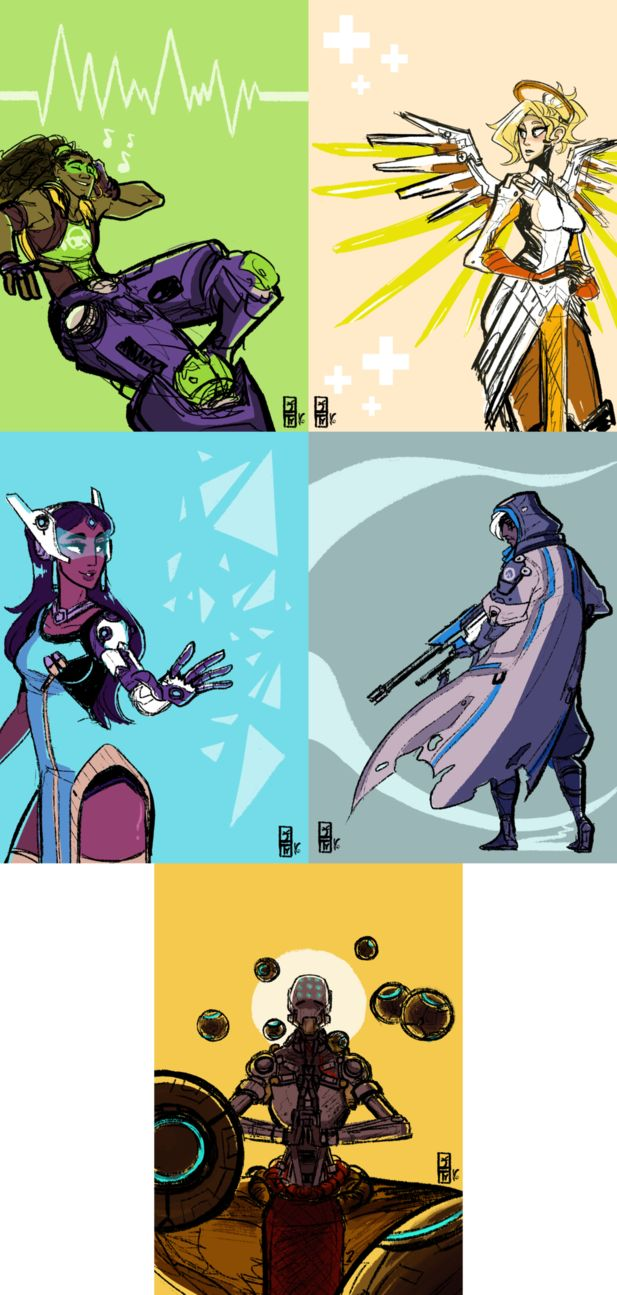 So it's been an on and off project, but I wanted to get all the Overwatch characters done for prints by the time Comikaze rolls around! It started out with just doing the support characters, ...