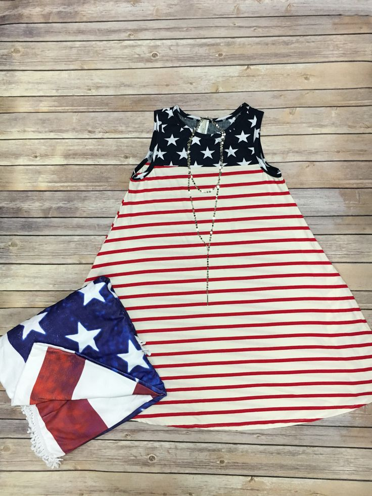 Red, White, And Beach Days Outfit